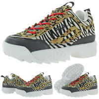 Fila Womens Disruptor II Animal Trainers Leopard Sneakers Shoes BHFO 2150