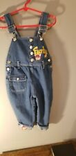 Vintage Toddler Girls Size 2T Furby Denim Overalls With a Pink Furby