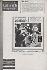 CRY IN THE NIGHT pressbook Natalie Wood, Edmond O'Brien, Brian Donlevy FILM NOIR