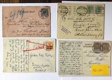 24 Belege u.a. Deutsches Reich mit diversen besseren Stücken - s.Bilder