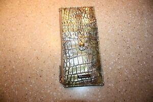 NWT BRAHMIN SYMPHONY GOLD SILVER BRONZE YELLOW GREY CREDIT CARD WALLET PURSE NWT