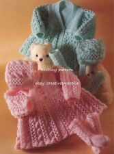 (561) DK Knitting Pattern for Baby Matinee Coat, Bonnet & Socks, 14-18''
