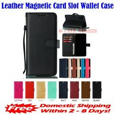 """Premium Leather Magnetic Card Slot Wallet Flip Case for iPhone 11 (6.1"""")"""