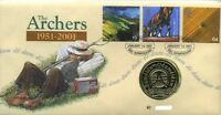 GB QEII ROYAL MAIL / MINT PNC COIN COVER 2001 THE ARCHERS MEDAL