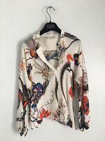 Balenciaga by Nicolas Ghesquiere Silk Iguana Floral Print Top blouse FW 2011
