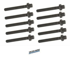 For Saab Cylinder Head Bolts Set of 10 Victor Reinz 5955794 9-3 9-5 900 9000