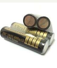 4 X800 18650 Li-ion Battery Torch Ultrafire 3.7v 4000mAh Protected Rechargeable