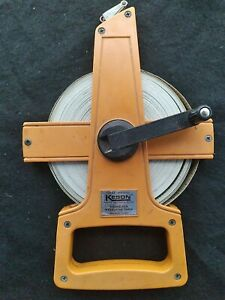 Pre-owned Collectible Vintage KESON Fiberglass Measuring Tape 100 Ft QTR-18-100
