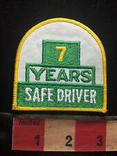 7 YEARS SAFE DRIVER Patch - Truck Driving Safety Yellow & Green & White C75L