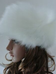 Posh Luxury Ladies Top Quality Faux Fur  Glam White Hat for all saints winter.