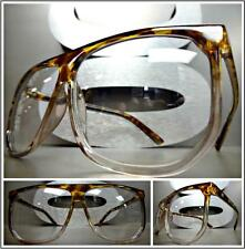 CLASSIC VINTAGE RETRO Style Clear Lens EYE GLASSES Tortoise & Transparent Frame