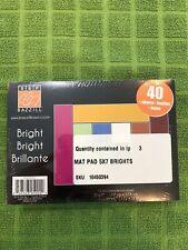 Brazzill Basics Mat Pad 5 x 7 Bright Cardstock  120 Sheets