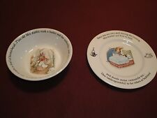 Peter Rabbit Wedgewood Bowl and Saucer