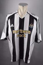 Newcastle United Trikot 2003-04 Gr. L Adidas Northern Rock schwarz weiß Jersey