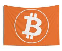 Bitcoin Wall Tapestry. BTC Crypto Tapestry Art, Bitcoin Banner