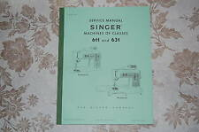 Professional Full Edition Service Manual for Singer 611 and 631 Sewing Machines.