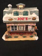 RARE Lemax Joes Burger and Hot Dog Stand Shack Christmas Village House 2005