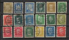 Allemagne Deutsches Reich années 20 18 timbres /T2422