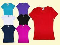 Damenshirt  Basic T.-Shirt Gr. . S- L Farbe wählbar Baumwolle NEU