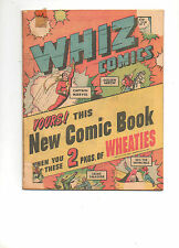 Whiz Comics Wheaties Miniature Edition #nn #1 Captain Marvel, Golden Arrow RARE!