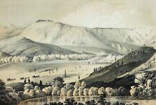 1858 Arizona Williams River Valley Lithograph Us Pacific Railroad Survey Rare