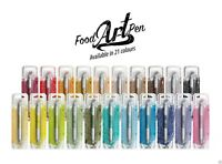 Rainbow Dust Edible Cake Icing Food Art Pens Double Ended 2 Nibs - 21 Colours