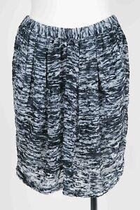 ISABEL MARANT Mini Skirt SZ 38 Black Cream Grey Velvet Burnout