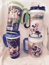 Disney Travel Mug Mugs Lot Of 4 Polynesian Resort Happy Holidays Mickey Mouse