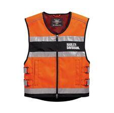 Harley-Davidson Hi-Visibility Reflective Vest Warnweste Gr. L - Orange, Weste