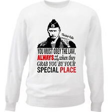 PUTIN YOU MUST OBEY THE LAW - NEW WHITE COTTON SWEATSHIRT
