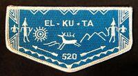 EL-KU-TA OA LODGE 520 GREAT SALT LAKE COUNCIL UTAH UT 508 535 407 ELANGOMAT FLAP