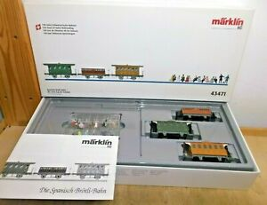 Märklin H0 43471 Spanish Brötli-bahn Waggon-Set 3-teilig with Figures New Boxed