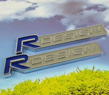 2Pcs R DESIGN Metal Emblem Sticker Badge Volvo C30 C70 S40 S60 S70 S90 V40 V60