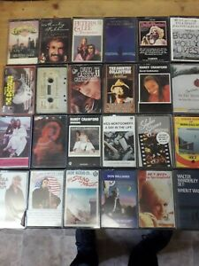 job lot 24 cassette tapes.50s, 60s, 70s and country