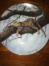 Leopard collector plate 1989 The Hamilton Collection * * View From Above