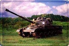 esercito degli Stati Uniti Panzer Tank Segno Metallo Piastra Metallica Lamiera