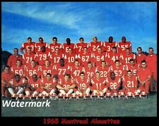 Cfl 1965 Montreal Alouettes Team Picture Wing Helmet Color 8 X 10 Photo