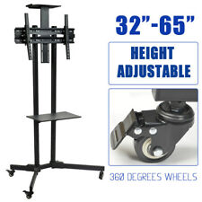 "LED LCD TV Stand Mount Bracket Mobile Trolley With Wheels 32 to 65"" up to 50kg"