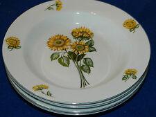 lot 4 ASSIETTE CREUSE fleur de TOURNESOL porcelaine chine SIMEX sunflower PLATE