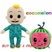 Cocomelon JJ Plush Toy Boy Watermelon Stuffed Doll Figures Educational Kids Gift