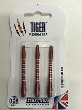 Lot de 3 tiges Shaft Harrows Tiger medium rouge jeu de fléchettes électronique