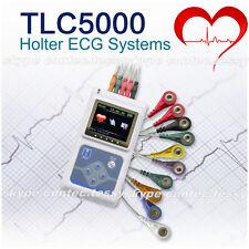 CE TLC5000 24Hrs ekg Holter Sistemi di analisi 12 canali ECG recorder SOFTWARE