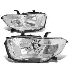 Fit 2008-2010 Toyota Highlander Pair Chrome Housing Clear Corner Headlight/Lamps