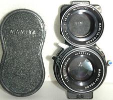 nice Mamiya Sekor 80mm f2.8 Blue Dot lens set for the Mamiya C220 & C330 TLRs