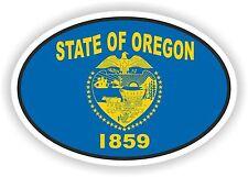 OVAL Oregon STATE WITH FLAG USA STICKER AUTO MOTO TRUCK LAPTOP BIKE CAR
