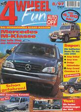 4Wheel 1997 8/97 Land Rover Discovery Mercedes M Klasse Korando FZJ80 4,6 HSE