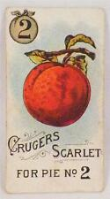 Victorian Trade Card Crugers Scarlet Plum For Pie No. 2 Fruit Small