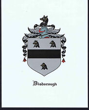 DISBOROUGH - Coat of Arms & Family Crest - Vintage Print