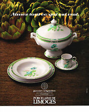 PUBLICITE ADVERTISING 024   1978 Porcelaine de Limoges Jammet Seignolles Lotus