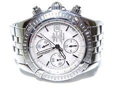 Breitling A13356 Chronograph Automatic Tachymetre White Dial Pilot Watch